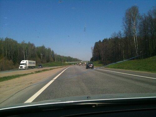 Трасса М2 в Чеховском районе