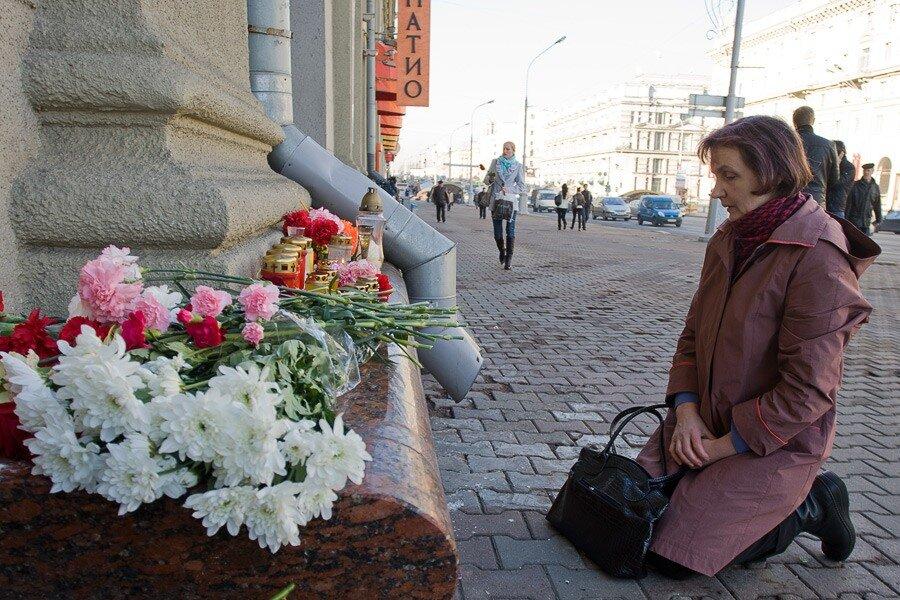 Скорбим о погибших в минском метро