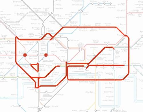 схемы лондонского метро