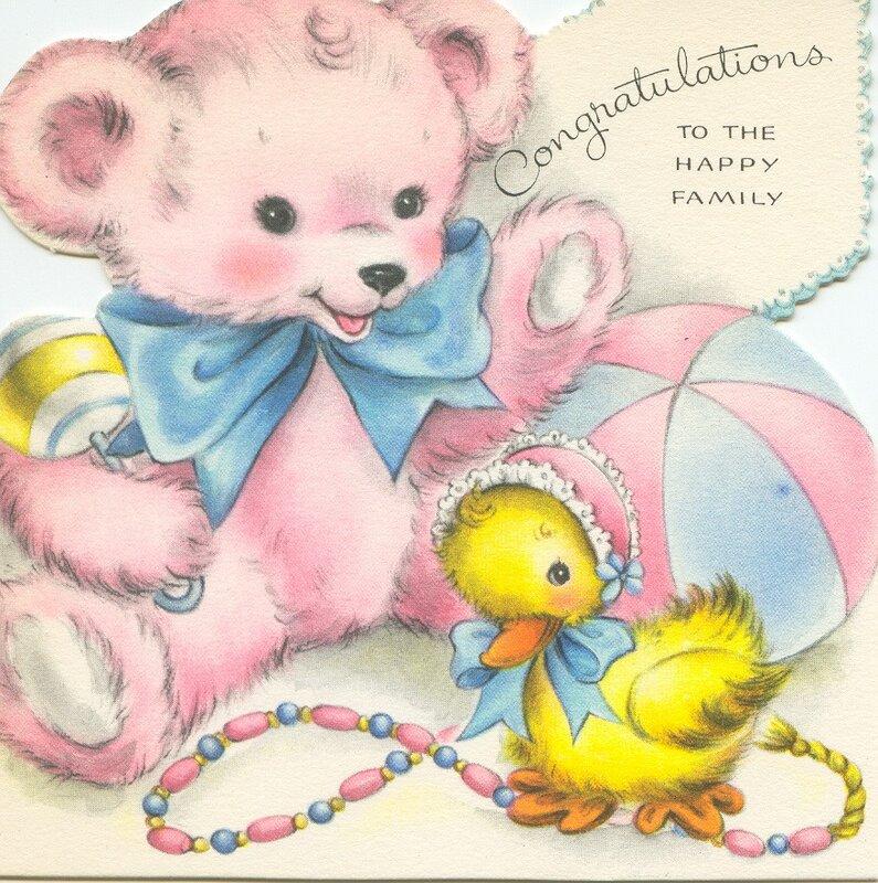 Детская рисованная открытка с животными.