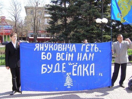 """ВО """"Свобода"""", Луганск, акция"""