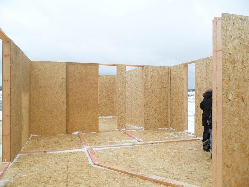 Монтаж стен и перегородок второго этажа