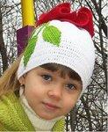 Шапка спицами для девочки (пошагово) Вяжем шапочку