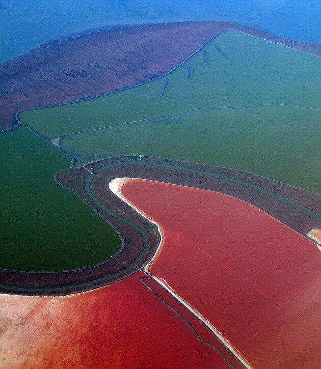Солевые пруды в Сан-Франциско