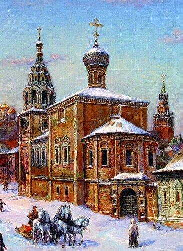 Первоначальный облик церкви Николы Мокрого. Реконструкция В. А. Рябова.
