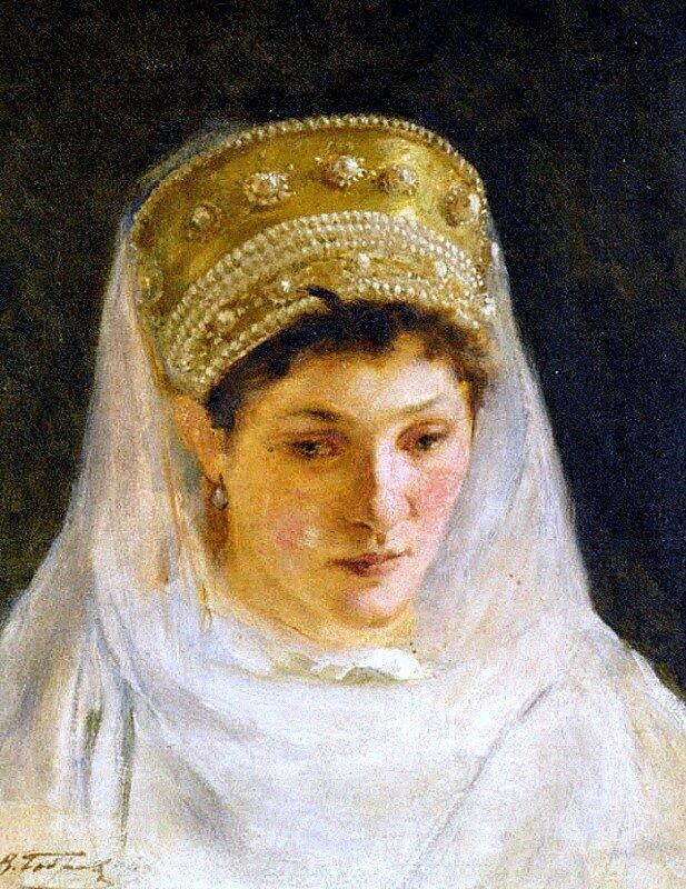 Виктор Алексеевич Бобров (1842 - 1918)  Меланхолия невесты 1915