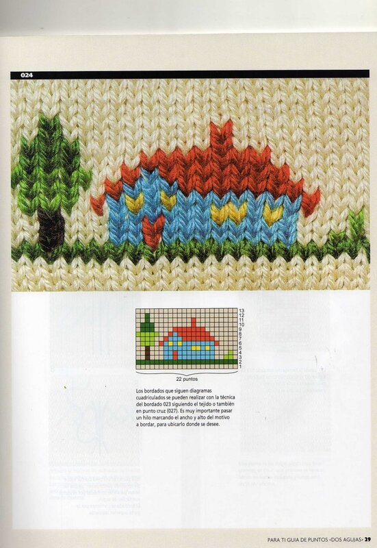 Фото вышивки по вязаному полотну