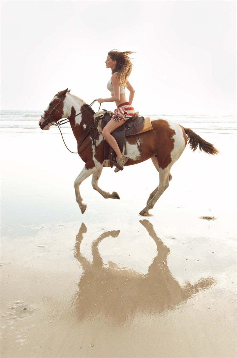 модель Жизель Бюндхен / Gisele Bundchen, фотограф Patrick Demarchelie