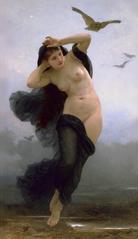 Бугеро, Ночь(богиня).1883 г.