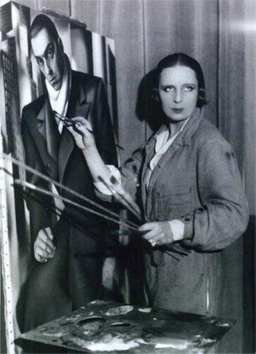 фото, Лемпицкая пишет портрет бывшего мужа