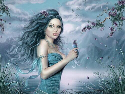 """Схемы вышивки.  Близнецы. живопись. цветы.  Теги. красота женщины. картины.  Портал  """"Вышивка крестом """"."""