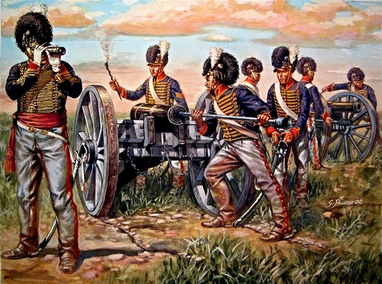 Capt. Mercer and his artillery battery - Waterloo 1815 РАВА.jpg