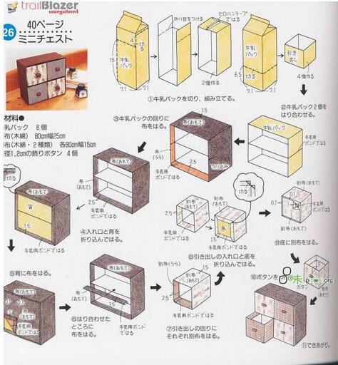 Как сделать комод из бумаги своими руками 32