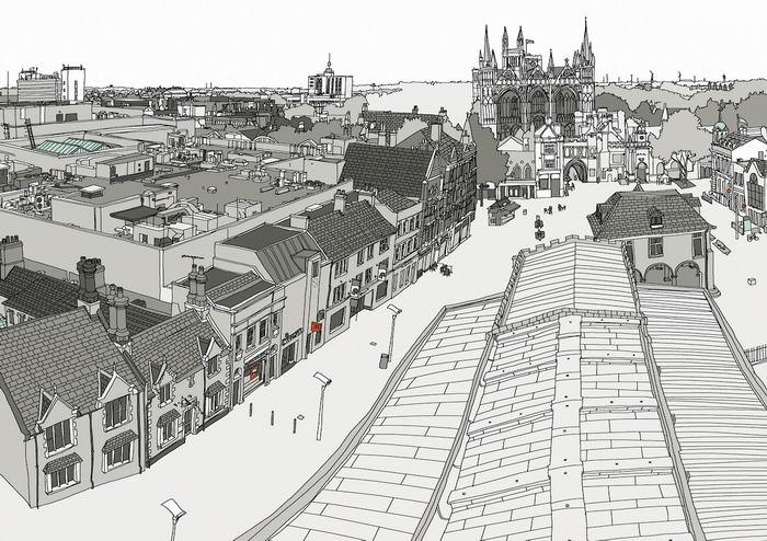 Графика, иллюстрации, городские зарисовки от Лор5a8ы Барнард / Laura Barnard