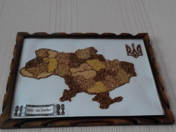 карта украины из гречки