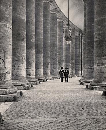 Bernini Collonades, Rome, Vatican, 1950