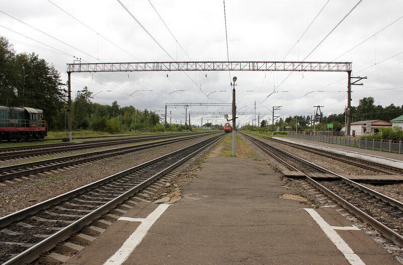 Станция Берендино, вид на Воскресенск