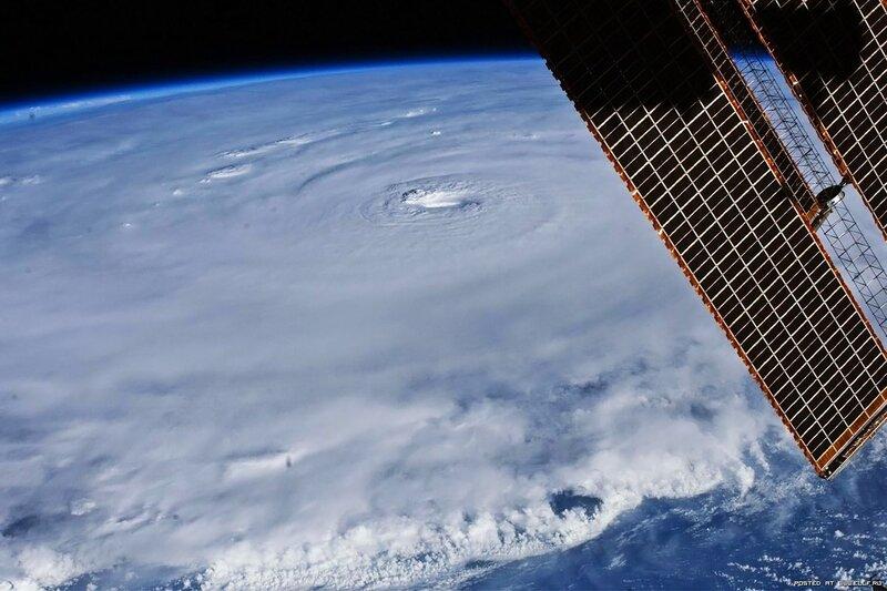 4. Ураган Эрл глазами астронавта