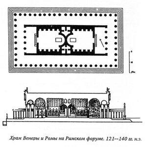 Храм Венеры и Ромы, план