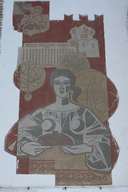 Декор фасада бывшего кафе «Выставочное» на ВДНХ (вечно на реставрирование)