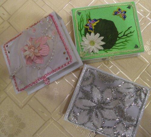 Коробочки для бумаг на офисный стол(подарки подругам).