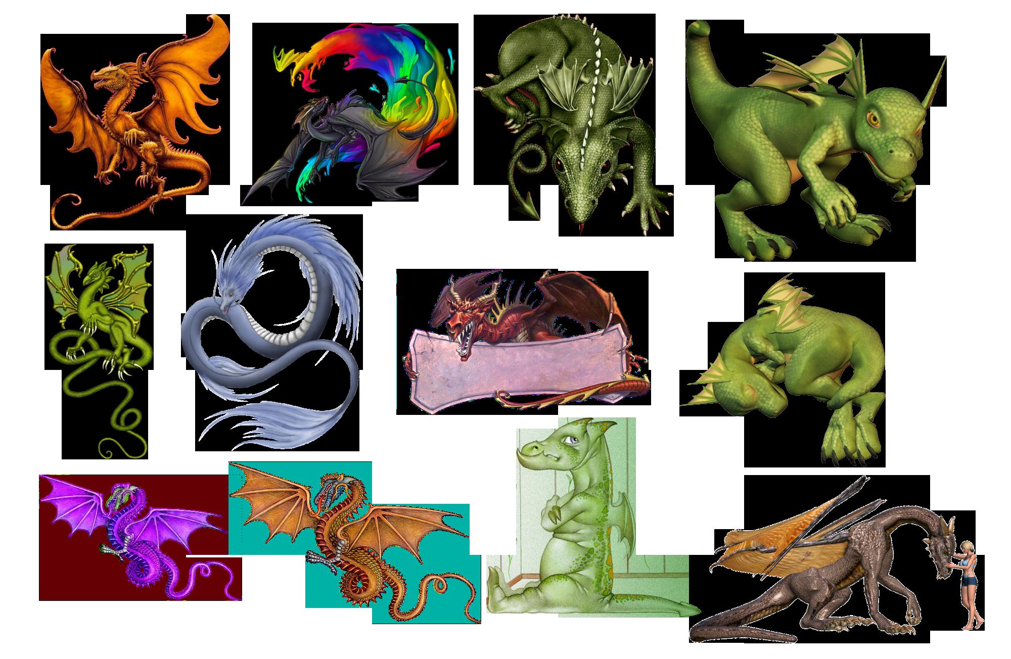 Все виды драконов с картинками