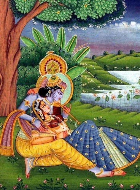 Искусство Индии - вайшнавская традиция - Шри Шри Радха-Кришна