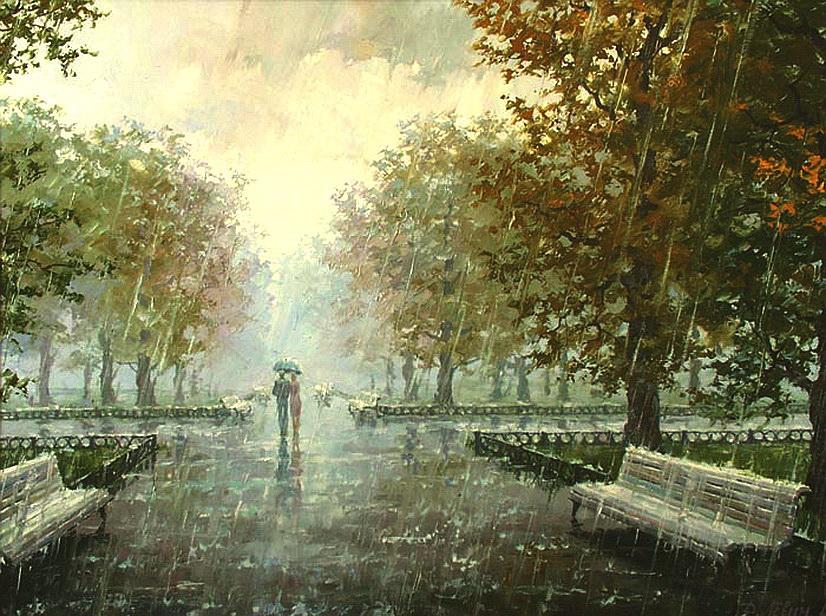 Дождь в парке