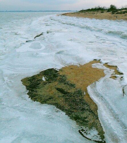 Зима на Ачуевской косе