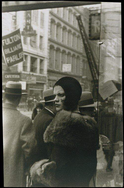 Walker Evans, Girl in Fulton Street, New York , 1929