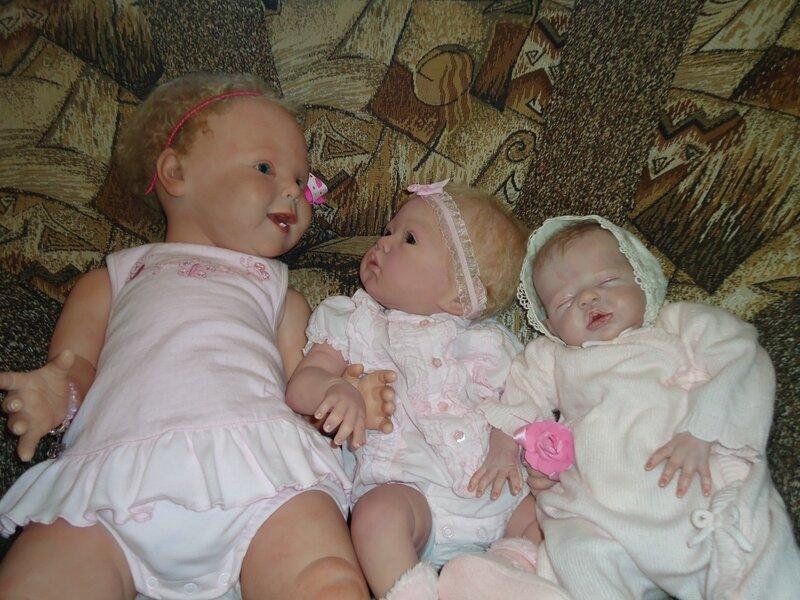 Этюд в розовых тонах. Мои куклы реборн