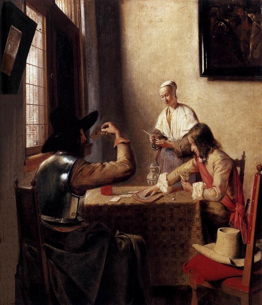 Солдаты играющие в карты. (1657-1658) Питер де Хох (1629-1684)