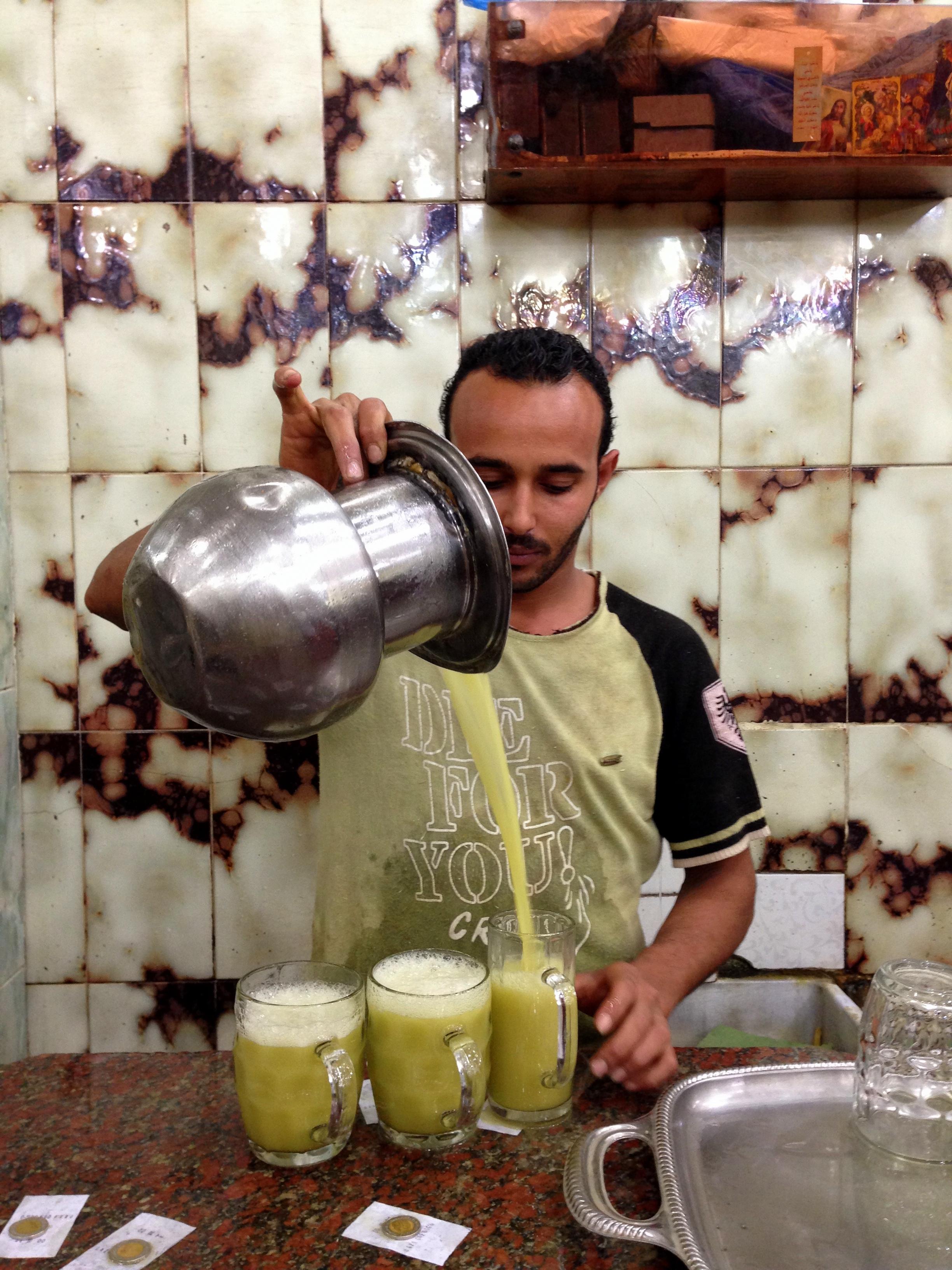свежевыжатые соки в Египте