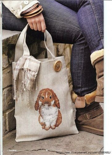 Схема вышивки на сумку.