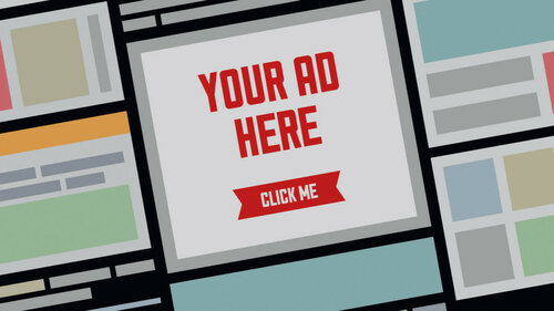 Your AD here flat illustration