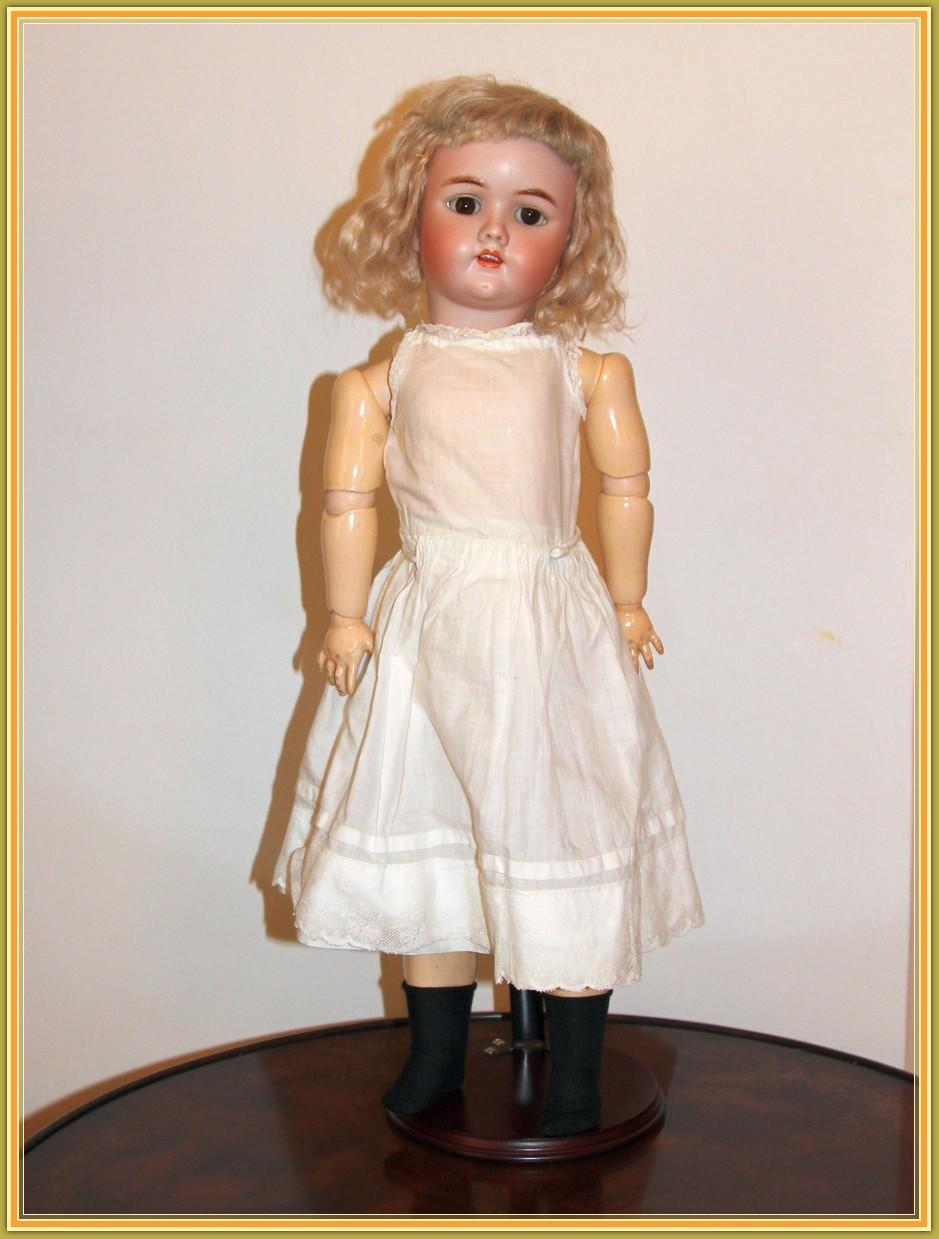 Антикварная немецкая коллекционная кукла Heinrich Handwerck, mold 69