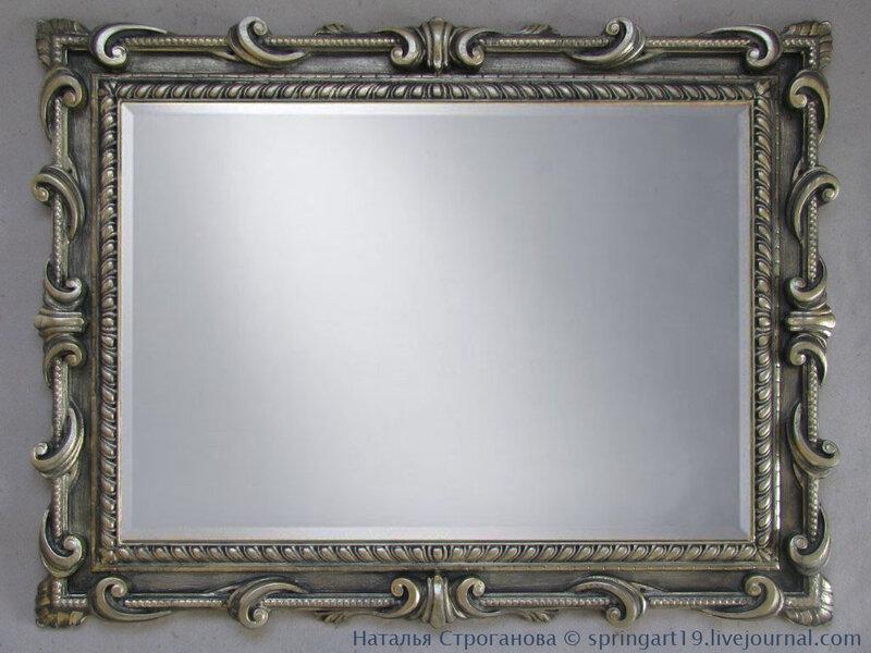 Мастер класс рамки для большого зеркала