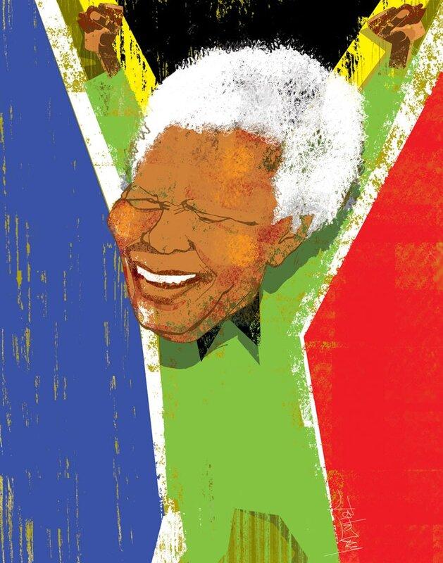 john jay illustration.Nelson Mandela