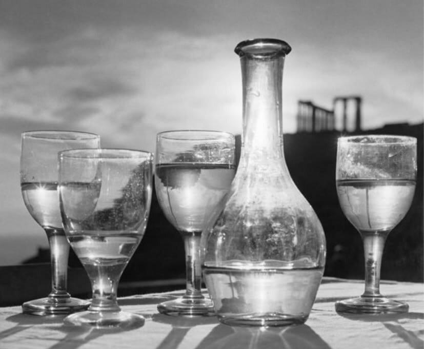 Herbert List - Taverna under the Poseidon Temple - Cape Sunion, 1952
