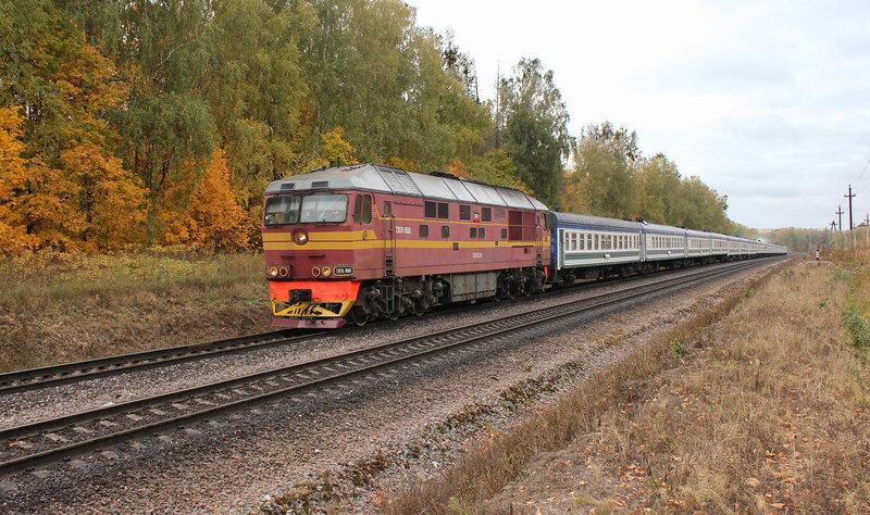 ТЭП70-0504 с поездом Ташкент-Спб