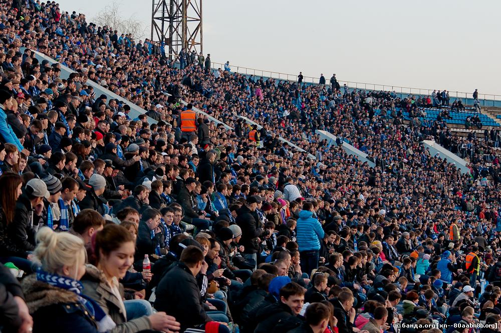 На трибунах стадиона / 1 апреля 2013 год