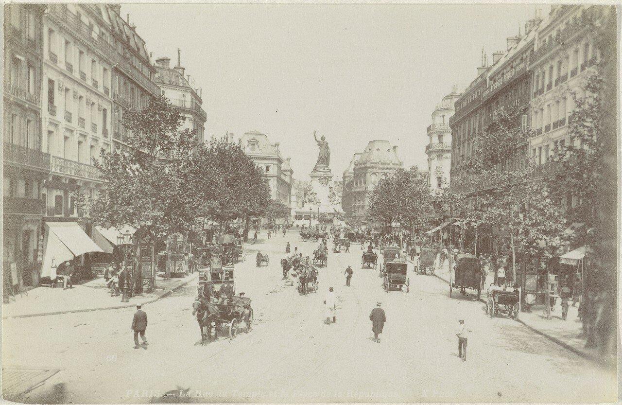 1870-е. Рю дю Темпл и Площадь Республики