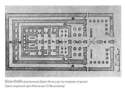 Храм в Ком-Омбо, план