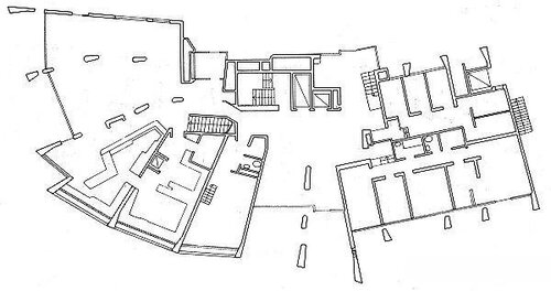 Квартиры в Люцерне, архитектор Алвар Аалто, план 1-ого этажа