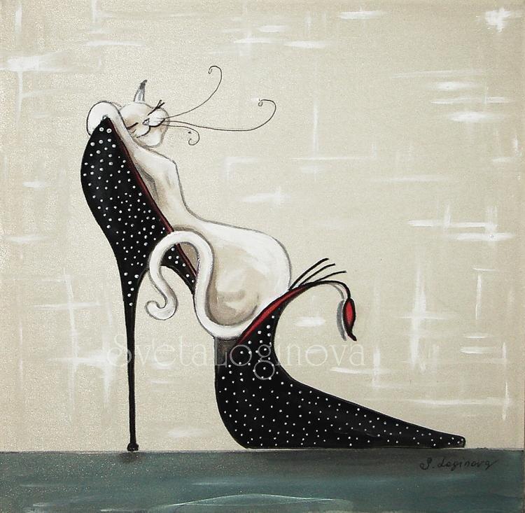 Логинова Светлана.  Модница-красавица на черной туфельке.