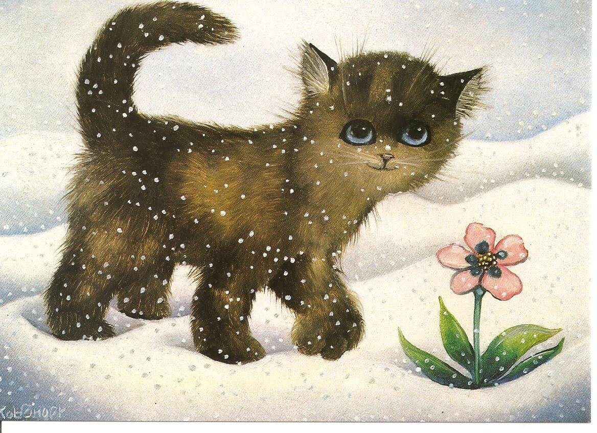 Как котенок зиме удивился картинки для детей, картинка про футболистов