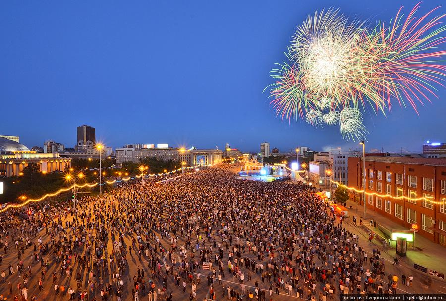 Празднование дня города в Новосибирске (2011)