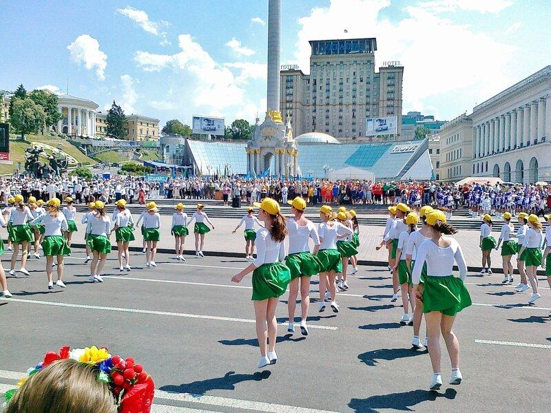 Танцевальный фестиваль на Майдане НЕзалежности