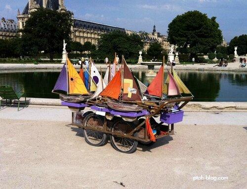 Тюильри, Лувр, Париж, Франция