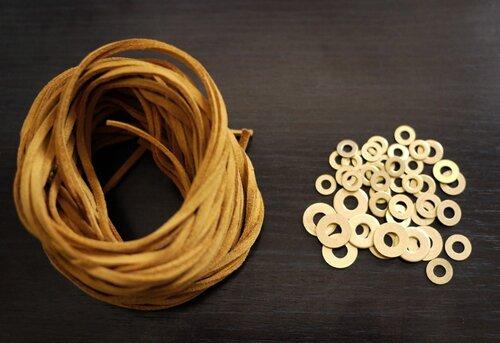 как сделать ожерелье макраме. макраме с шайбами шнур квадратный...